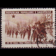 ALBANIA 1947 - Scott# 417 Lib.3rd. 12l Used - Albania