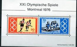 PIA - GERMANIA - 1976 : XXI° Olimpiadi Di Montreal  - (Yv  Bf 11) - Estate 1976: Montreal