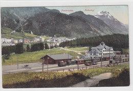 Berninabahn Mit Dampf-Rangierlok Im Bahnhof Pontresina - 1911   (P22-10522) - GR Grisons