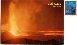 ISLAND  ICELAND  ISLANDA  ASKJA  The Eruption Of  Volcano Askja In 1961  Nice Stamp - Islanda