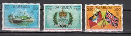 Barbuda 1977,3V,flags,banners,vlaggen,drapeaux,flaggen ,MNH/Postfris(A3158)