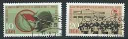 DDR  1973  MI 1874 - 1875  20 Jahre Kampfgruppen  Gestempelt