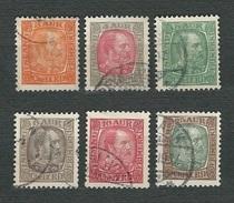 ISLAND 1902 - King Christian XI - Mi:IS 35-36-37-38-39-41 - Prephilately