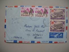Viêt-Nam - Saigon  Lettre  Pour La France Année 1971 Bel Affranchissement Composé - Viêt-Nam