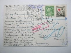 1931 , Deutsche Seepost , Nachportokarte Mit USA Frankatur