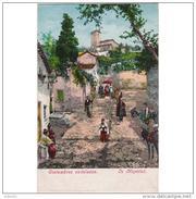 GNDTP6415DCPA-LFT3363TABU.Tarjeta Postal DE GRANADA.Edificios,animales,PROCESION EN UNA CUESTA DE LA ALHACABA Granada - Burros