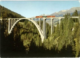 SVIZZERA  SUISSE   GR  Viadukt Bei Langwies  Chur-Arosa-Bahn  Treno - GR Grisons
