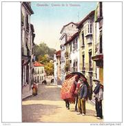 GNDTP6453CPA-LFTD10139TABU.Tarjeta Postal DE GRANADA.Arboles,animales.VENDEDOR DE TAPICES,cuesta De La Gomera - Burros