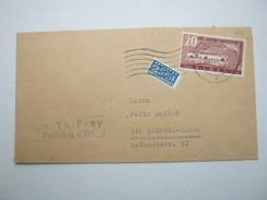 1949 , 20 Pfg. Kraftpost Auf Brief Aus Freiburg