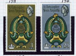 1965 - ST.CRISTOPHER - ST.KITTS - NEVIS -  Catg.. Mi. 168/169 - LH - (I-SRA3207.35) - St.Christopher-Nevis-Anguilla (...-1980)