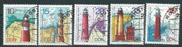 DDR  1974  Mi 1953 - 1957  Leuchttürme  Gestempelt