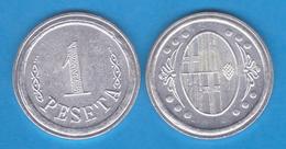 Ayuntamiento De L´ Ametlla Del Valles BARCELONA 1 Peseta Aluminio 1.937 Réplica    T-DL-11.963 - Republican Location