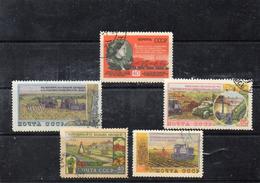 Russie 1954 - YT 1723 à 1727 Obl