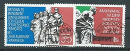 DDR  1974  Mi 1981 - 1982  Internationale Mahn- Und Gedenkstätten  Gestempelt