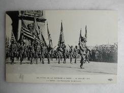 MILITARIA - Les Fêtes De La Victoire, 14 Juillet 1919 - Le Défilé - Les étendards Américains - Guerre 1914-18