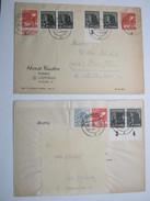 1948 , 2 Briefe Mit Randstücken Aus  Eisenach / Cottbus