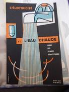 Dépliant L'électricité Et L'eau Chaude Pour Les Usages Domestiques - Vieux Papiers