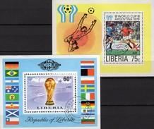 Championat BRD 1974 Liberia Blocks 72+90 O 4€ Stadion Argentina 1978 Spieler Hojas Ms Blocs Soccer Sheets Bf Africa - Club Mitici