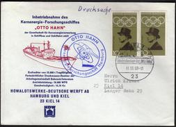 Germany Kiel 1968 / Ships / Nuclear Energy OTTO HAHN / Shipyard - Bateaux