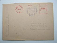 Firmen Freistempel , Meterstempel Auf Beleg Aus   Halle  1947