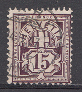 SUISSE 1906 Mi.nr: 87 Kreuz über Wertschild  Oblitérés - Used - Gebruikt