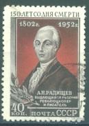 URSS - 1952 - USED/OBLIT. - RADISCHTCHEV - Mi 1644 Yv 1626 - Lot 15226
