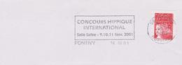 Hippisme : Flamme Pontivy (Morbihan) Concours Hippique International Salle Safire (9-10-11 Nov 2001)