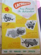 Dépliant Lachazette Fabrication Pulseur Motoculteur NARBONNE HALM - Publicités