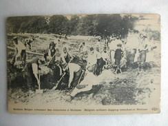 MILITARIA - Soldats Belges Creusant Des Tranchées à Malines - Guerra 1914-18