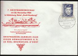 Germany Schonberg 1964 / Ships / Philatelic Exhibition / M/S Stadt Hamburg - Philatelic Exhibitions