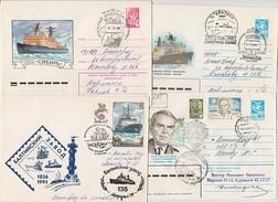 NORTH POLE Drift Base Polar ARCTIC Mail 4 Cover USSR RUSSIAradio Operator Krenkel Icebreaker Baltic Plant Leningrad Murm