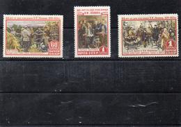 Russie 1955 -  85 Eme Anniv Naissance De Lénine  YT 1758/60 **