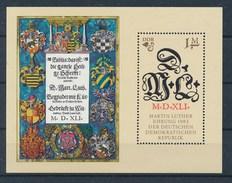 DDR Mi. Block 73 Postfr. 500. Geburtstag Martin Luther