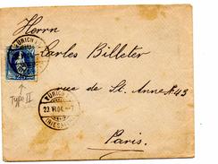 Lettre De Zürich_Riesbach (23.06.1904) Pour Paris