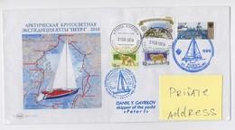 NORTH POLE Tiksi Polar Base ARCTIC Cover Mail Used  USSR RUSSIA Yacht Alaska Canada Petersburg