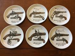 6 Petite Coupelles Deco Pistolet (plastorex 74 Rumiliy ) - Armes Neutralisées