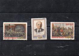 Russie 1955 - 35 Eme Anniv Revolution D'octobre  YT 1765/67