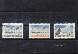 Russie 1955 - Station Thermique Pole Nord YT 1768/70