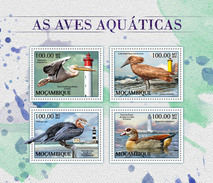 MOZAMBIQUE 2016 - Lighthouses, Pelican. Official Issue