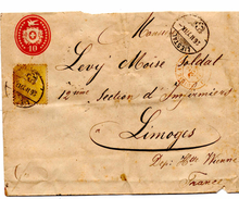 Lettre De Liestal (26.02.1877) Pour Limoges_Suisse A. Marseille Paris_Ambulant - 1862-1881 Helvetia Sentada (dentados)