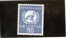 B - Svizzera 1959 - Nazioni Unite - Ginevra