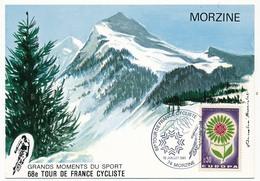 FRANCE - Carte Postale - 68eme Tour De France Cycliste - 12 Juillet 1981 - 74 MORZINE