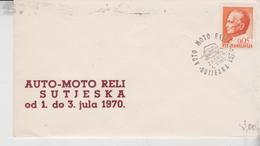 YUGOSLAVIA JUGOSLAVIJA 1970 AUTO MOTO RELI SUTJESKA CAR RACE RALLY - 1945-1992 Repubblica Socialista Federale Di Jugoslavia