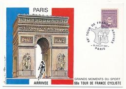 FRANCE - Carte Postale - 68eme Tour De France Cycliste - ARRIVEE - PARIS - 19 Juillet1981