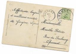 Noodstempel / Fortune  QUESMES 1919 + QUENAST 19  Cv Charbonnage De L'Héribus - Lettres & Documents