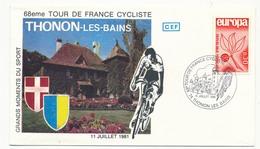 FRANCE - Enveloppe - 68eme Tour De France Cycliste - 11 Juillet 1981 - THONON LES BAINS