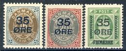 #B1234. Denmark 1912. Provisories. Michel 60-62. MNH(**)