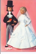 2 CP Les Amoureux De Peynet, Les Mariés (Fleur D'oranger : Amour Pur Et Nous Nous Aimerons Toute La Vie) - Illustratoren & Fotografen