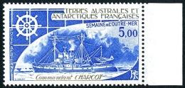 TAAF 1982 - Yv. PA 72 ** TB Bdf  Faciale= 0,76 EUR - Bateau Commandant Charcot ..Réf.TAF20492 - Poste Aérienne