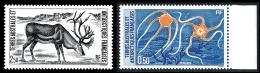 TAAF 1987 - Yv. 122 Et 123 ** TB  Faciale= 0,46 EUR - Faune : Ophiures Et Renne  ..Réf.TAF20577
